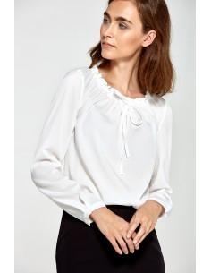 Bluza z nabranim ovratnikom...