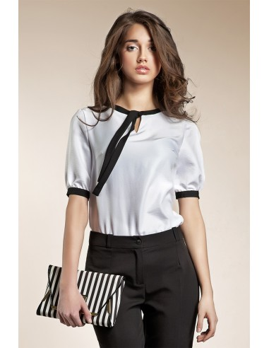 Ženska majica z rokavi iz satena B21